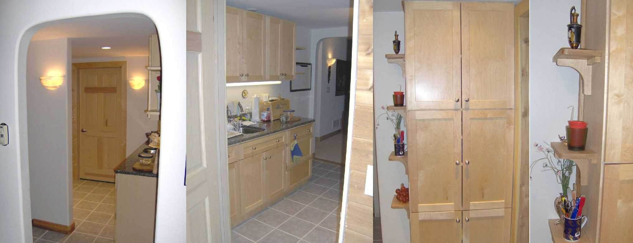 basement-remodel-kitchenette-reclaimed-custom-cabinetry-tilework-granite-maple