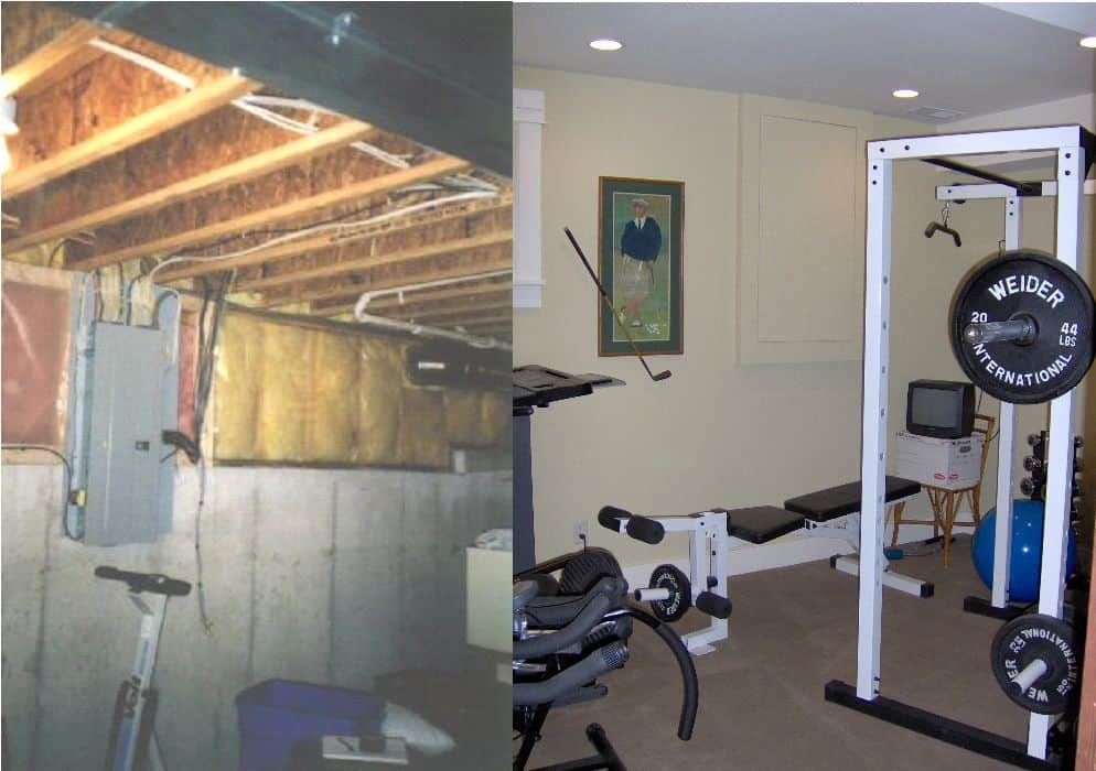 exercise-room-basement-remodel